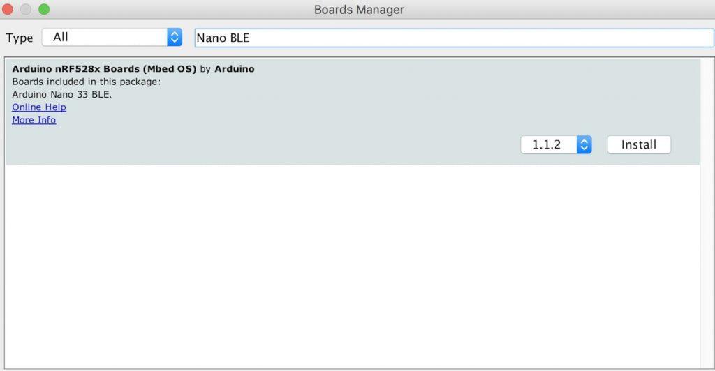 رابط کاربری آردوینو board Manager