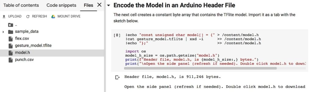 یادگیری ماشین آردوینو هدر