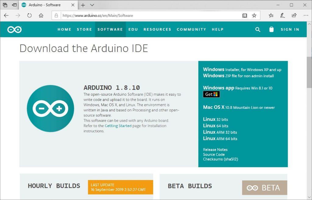 دانلود نرم افزار رابط کاربری آردوینو