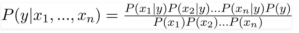 بسط فرمول بیز ساده