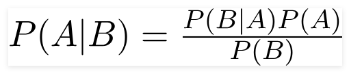 فرمول تئوری بیز