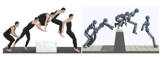 یادگیری تقویتی عمیق تقلید حرکت