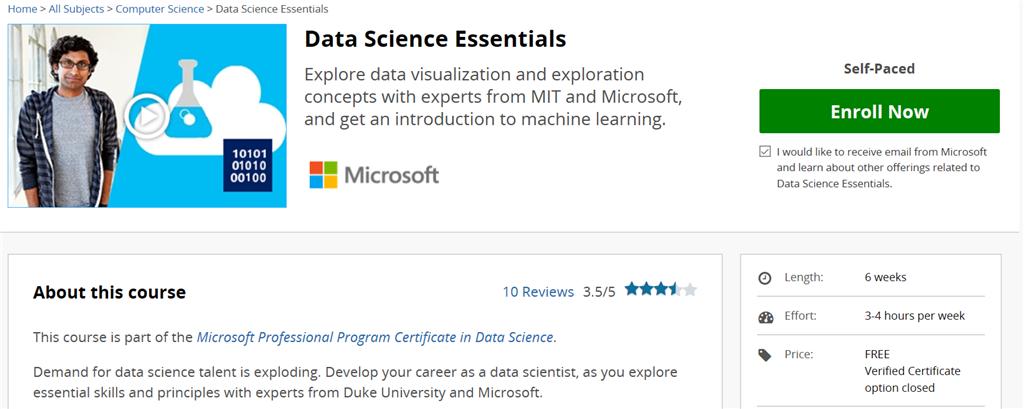 دوره رایگان ضروریات علوم داده و یادگیری ماشین