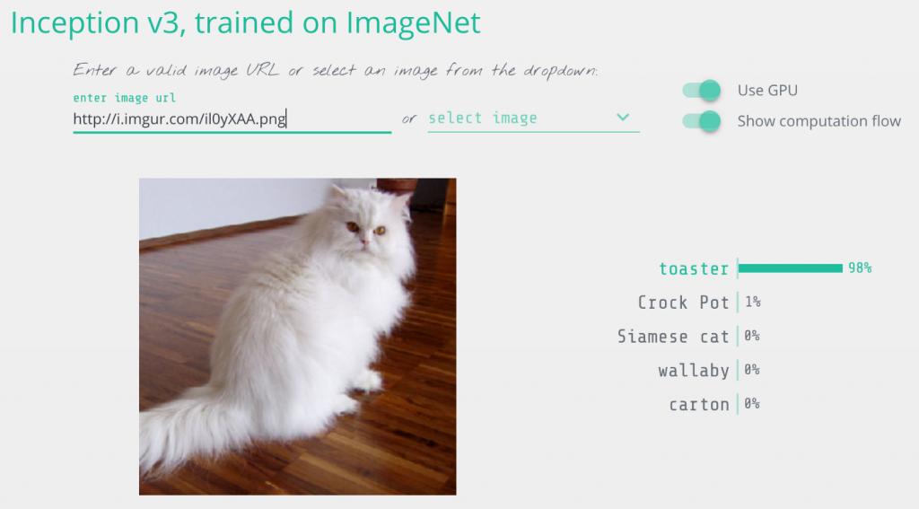 فریب دادن شبکه عصبی تشخیص تصویر گوگل Inception V3