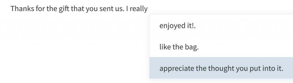 ساخت پیام تشکر با هوش مصنوعی