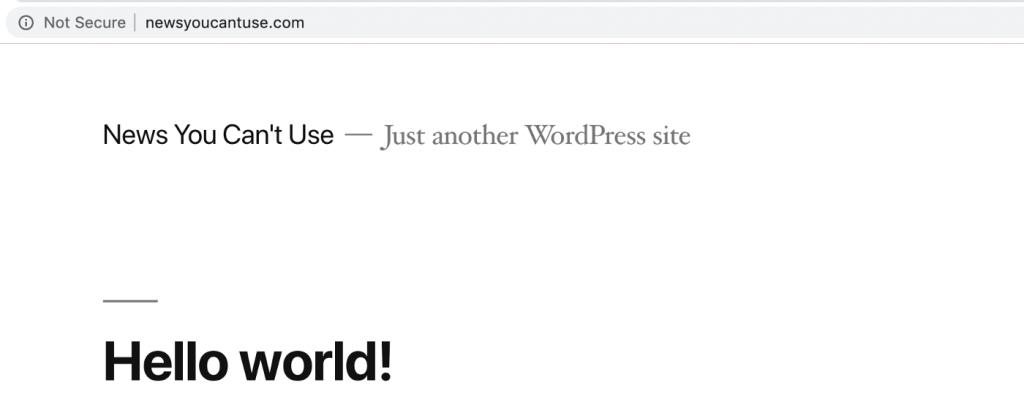 وبسایت وردپرس اخبار جعلی