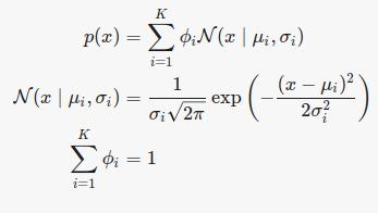 معادله مدل مخلوط گوسی