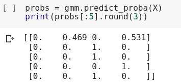 نتیجه پیاده سازی GMM