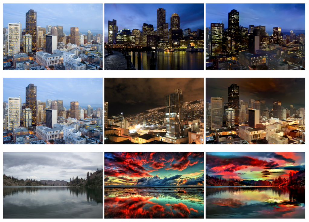 تغییر سبک در تصاویر مناظر با یادگیری عمیق