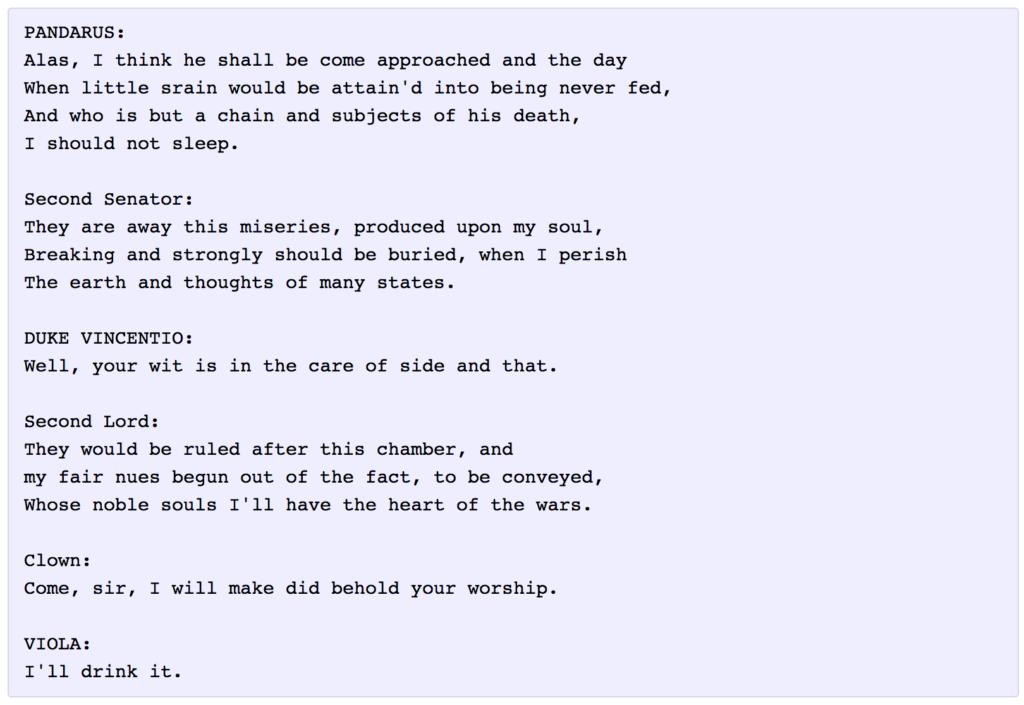 نوشتن داستان شکسپیر با هوش مصنوعی
