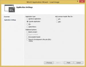 Visual C++ Console Application - Wizard