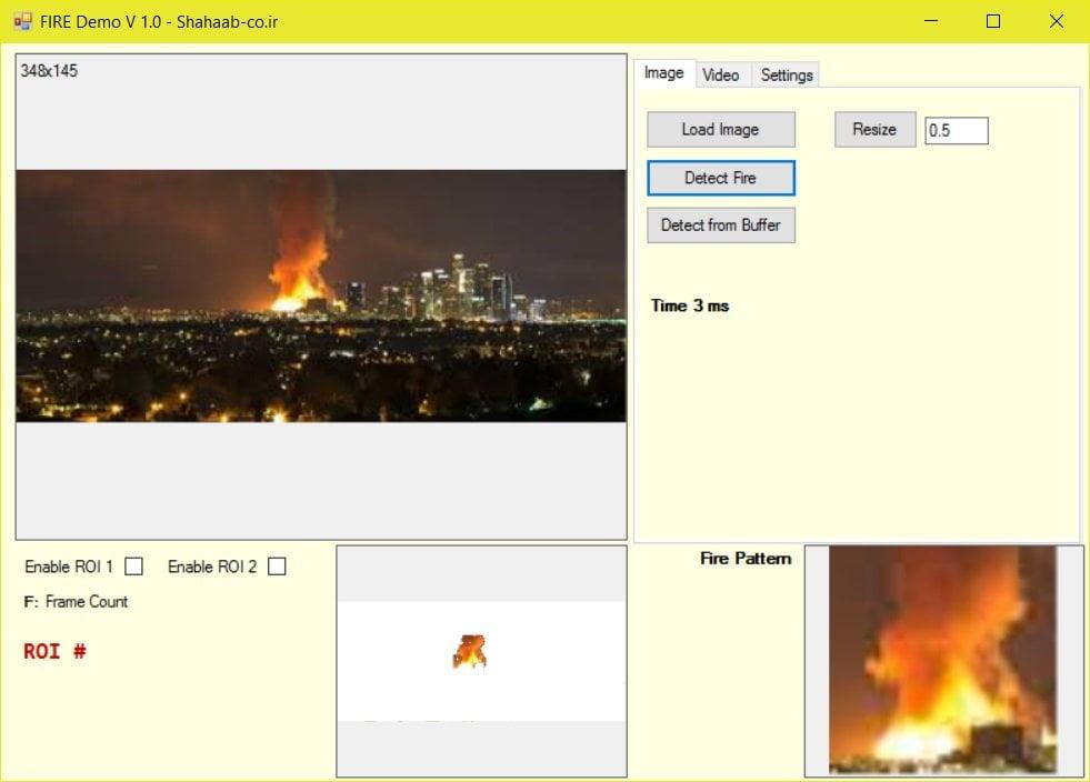 پروژه تشخیص آتش - C++ Fire Detection
